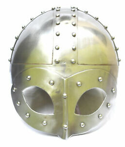 Medieval Viking Mask Deluxe Helmet-Reproduction Helmet With Liner & Chin Strap