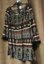 Rockmans BNWT Size XL Multicoloured 3/4 Bell Sleeve Paisley Top RRP $ 49.99