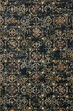 6'x9' Loloi Rug Torrance Microfiber Polyester Midnight Machine-made Transitional