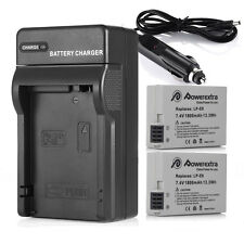 2x LP-E8 LPE8 Battery + Charger For Canon Rebel T5i T4i T3i T2i X4 X5 Camera