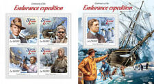Expedition Explorers Crean Shackleton Ships Fauna Sierra Leone MNH stamp set