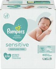 576 Count,Pampers Baby Wipes Sensitive Perfume Free 8X Refill Pack
