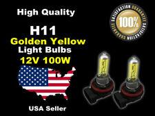 USA Seller Xenon Gas Headlight Light Bulb -100w Golden Yellow H11 Fog Light