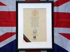 Oath Of Allegiance Royal Tank Regiment (framed with metal Cap Badge)