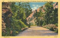 Linen Postcard AZ K401 In Oak Creek Canyon Hwy 89 Prescott Flagstaff Frasher