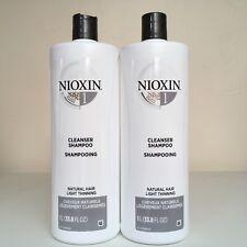 Nioxin System 1 CLEANSER (Shampoo) - SET OF 2 - 33.8 oz - NEW!!!