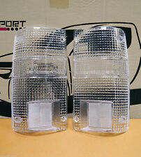 2 x TAIL LIGHT CLEAR LENSES TOYOTA HILUX RN 85 1989 - 1997 89 90 91 92 93 94 95