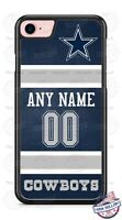 DALLAS COWBOYS NFL JERSEY PHONE CASE COVER FOR iPHONE SAMSUNG WITH NAME & No.