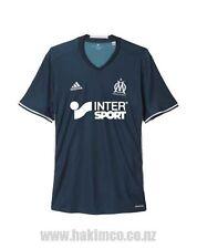 Adidas Olympique Marseille Football Away Navy Jersey Shirt Size Large EVRA 21
