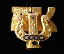 Vintage Alpha Kappa Psi Business Fraternity Pin Gold & Enamel 1931