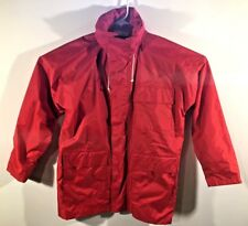West Marine Nautical Gear size S Hooded 100% Nylon w/PVC Coating Red Jacket