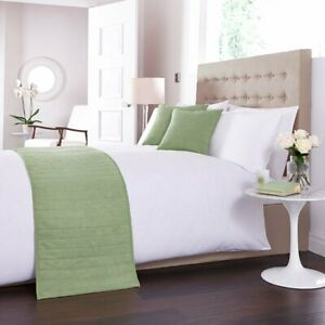 Charlotte Thomas Faux Suede Bed Runner & Cushion Cover Set in Green