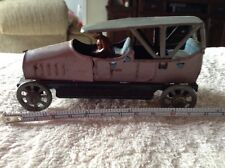 Rare Vintage Tin German Penny Toy Car & Driver Lehmann Ito Distler Sedan Touring