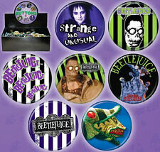 Beetlejuice Movie Metal Photo Button Assortment of 144, NEW BOXED