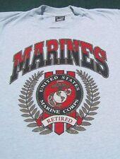 MARINES RETIRED united states MEDIUM T-SHIRT marine corps usmc