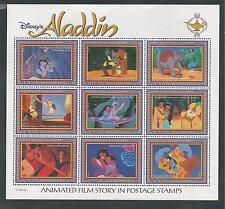 GUYANA # 2760 MNH DISNEY ALADDIN, ANIMATED FILM STORY.