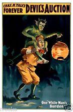 Devil's Auction / Goblin Spook Vaudeville Theater Comedy Poster / Fine Art Print