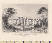 C1815 Antiguo Pequeño Georgiano Estampado ~ Bebé Orphan Asylum ~ Snaresbrook