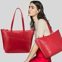 NWT 🌹 Furla Luce Large Shopper Leather Travel Tote 1049153 BAFV R76 Fragola Red