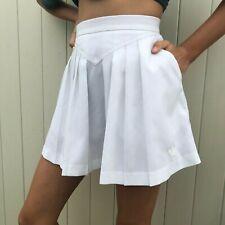 Vintage adidas White pleated vintage tennis skirt small 4 , 5 , 6 sheer Rare