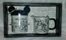 Disney Sketchbook Mickey Mouse Covered Sugar Bowl and Creamer Set