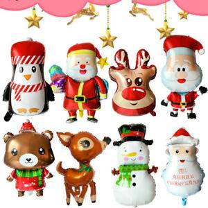 Christmas Balloon Santa Claus Snowman Foil Balloon Party Supplies Decor