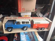 Nylint U-Haul blue chevy blazer Truck U Haul Box Trailer 4157 Rare Movin Mover