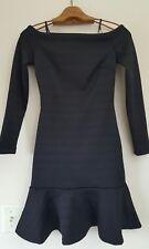 Banana Republic Black Sleek Ponte Flounce Dress Sz 00 Petite (54135)