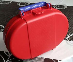 Tupperware RAR Kinderkoffer Türkis Lunchbox Vesper Caddy Koffer Kita Frühstück