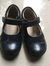 Clarks Girls Infant Size 6.5G 23 Patent Leather Navy Blue Pretty Shoes Great