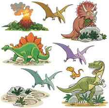 FunToSee™ Wall Art Stickers 🐢 Kids Bedroom Nursery DINOSAURS 🇬🇧