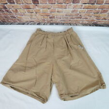 Cherokee Woman Shorts Size 12 Pleated  Elastic Waist Brown 27 X 10 Made In USA