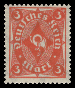 Germany Deutsches Reich 1922 Mi. Nr. 225 3M Post Horn & Numbers Definitive MH