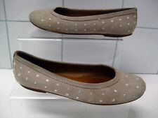 Ladies brown suede leather GEOX RESPIRA SHOES pumps flats UK 3 EU36 ballerinas