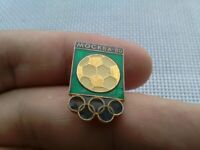 Vintage Badge Pin Olympics 1980 Moscow,Football,Soccer,Icon USSR