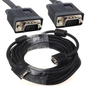 2M 3M 5M 10M 15M 20M 30M Super VGA SVGA PC Laptop Monitor Cable Lead Male -Male