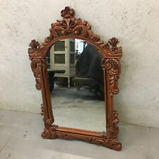 Incredible French Art Nouveau Style Carved Mahogany Mirror