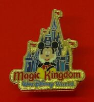 Used Disney Pin Badge Mickey Mouse Walt Disney World Castle