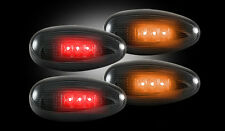 1999-2013 Chevy GMC Truck Dually Smoked LED Rear Fender Side Marker Lights Lamps