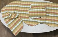 Country Curtains Window Swag Valance Set Plaid Green Red Yellow Made in USA