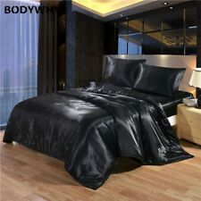 2020 Extra Large Satin Silk Summer Luxury Bedding Kit Quilt Cover Top New
