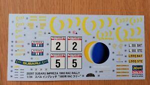 Decals for Hasegawa 1/24 Subaru Impreza WRC 1993 RAC Rally