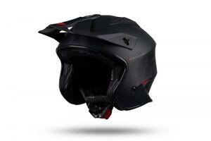 UFO Sheratan Urban Street Trials Helmet Matt Black -  All Adult Sizes