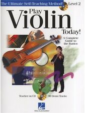 Learn to Play Violin Today Level 2 Fiddle Beginner Lesson Tutor MUSIC BOOK & CD