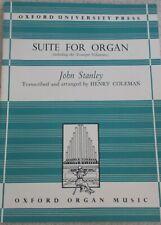 John Stanley Suite Organ Incl Trumpet Voluntary Unmarked