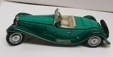Collectible Franklin Mint 1929 Bugatti Royale Type 41 Roadster Green 1/24 Die-Ca