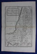 Original antique map HOLY LAND, 'PALAESTINA SEV TERRA SANCTA', Cellarius, 1799