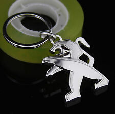 Quality 3D Zinc Alloy Auto Car LOGO Keychain Key chain ring Fob Chrome for NEW