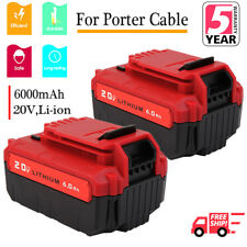 2-Pack 6.0Ah 20V PCC685L Battery for Porter Cable Max Lithium-Ion PCC680L PCC600