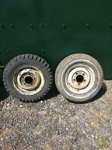 Genuine Land Rover Series 1 wheels / rims dated 1954 Part no: 231601 *check desc